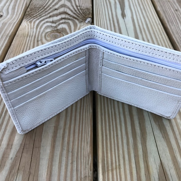 e2f22a771e1f2d Handmade Accessories | Mens Wallet White Supreme Real Leather Money ...